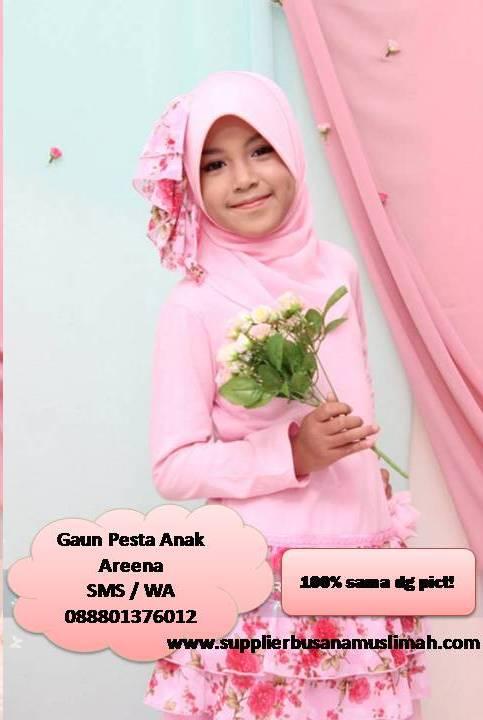gaun pesta anak muslim, gaun pesta anak murah, gaun pesta anak, gaun