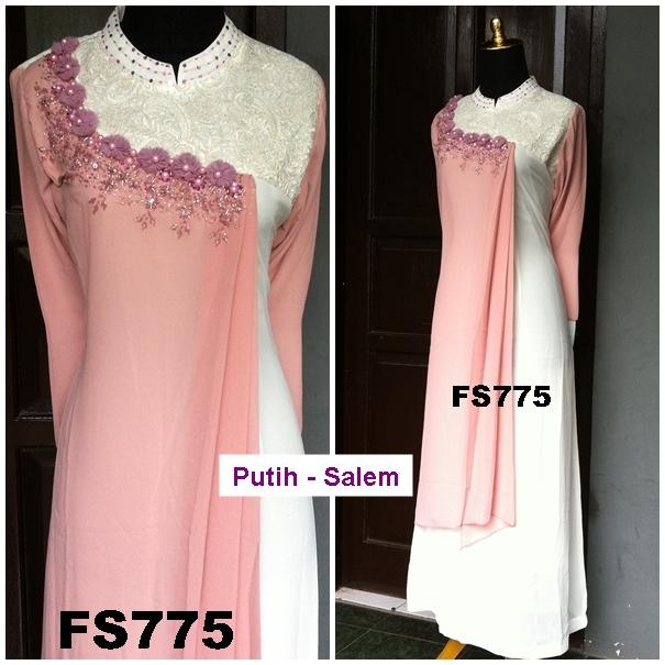 Gaun Pesta Muslimah Hycon Brokat Fs775 Baju Bagus Baju