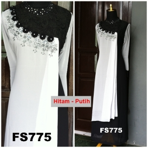 Gaun Pesta Muslimah Hycon Brokat FS775, baju bagus, baju bahan Hycon