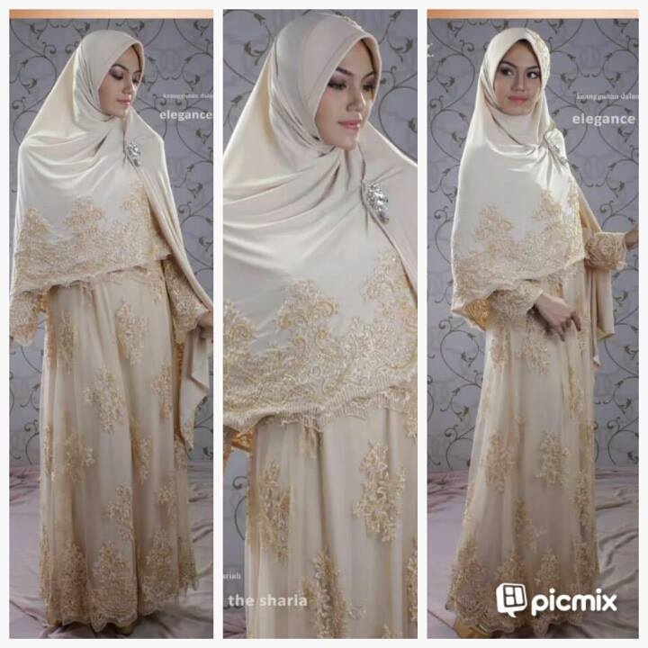 Gaun Spesial Pernikahan Muslimah Huriyyah Wedding Gown  GALERI AYESHA  JUAL BAJU PESTA MODERN