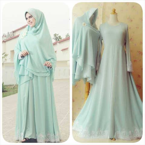 Gamis Pesta Muslimah Shaina Dress Ready Stock And Made By