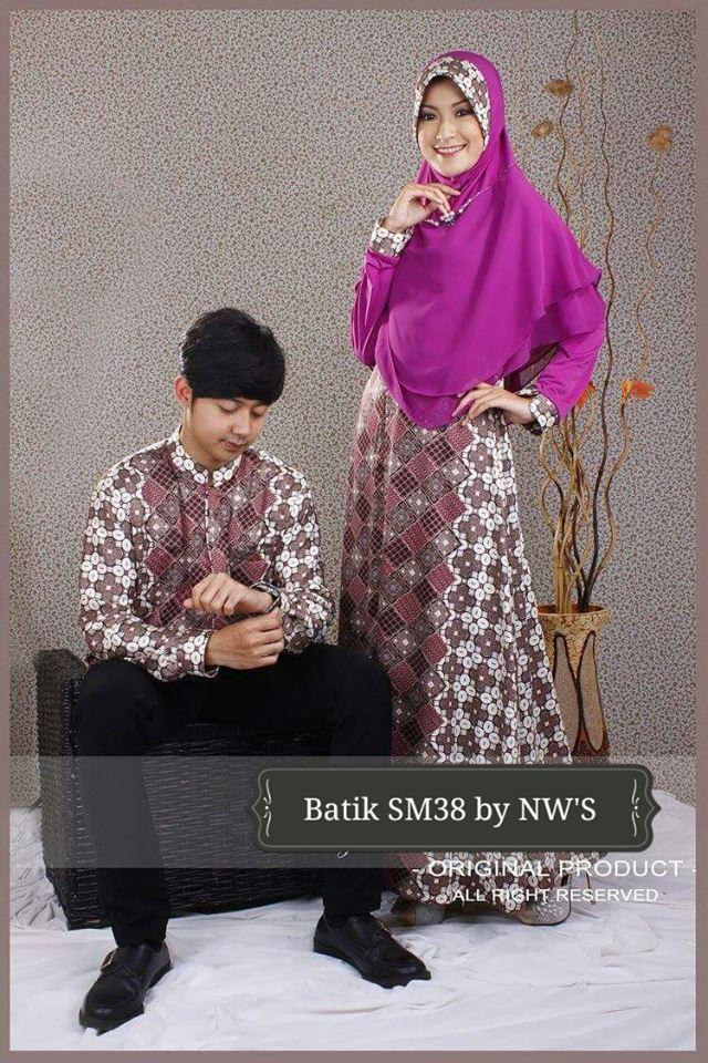 Couple Batik Semi Sutra Galeri Ayesha Jual Baju Pesta