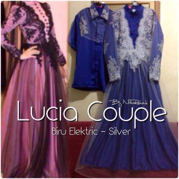 Lucia Dress Nitha Rahadi Biru Elektrik