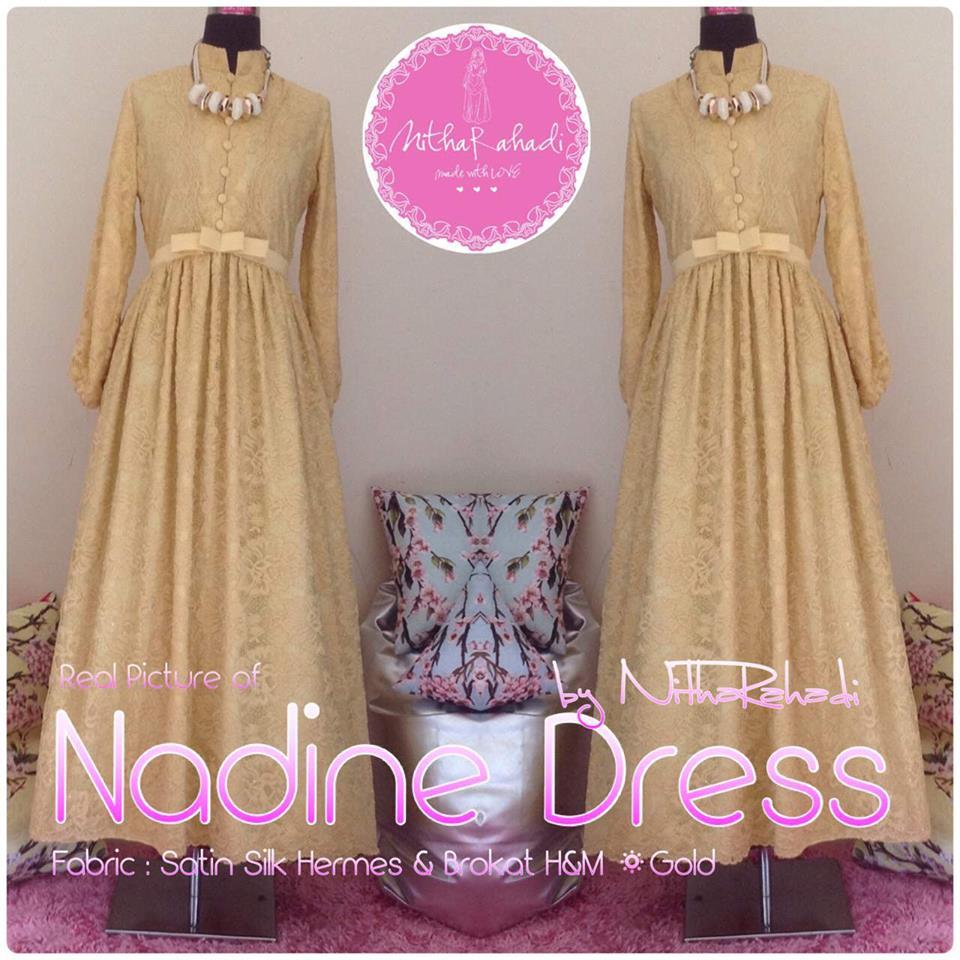 Nadine Dress Brokat Hm By Nitha Rahadi Gamis Syari Full