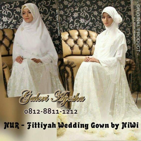 Fitriyah Wedding Gown by Nines  Widosari, baju lamaran islami, baju lamaran muslimah, baju lamaran sederhana, baju lamaran syar'i, baju pengantin islami, baju pengantin murah, baju pengantin muslimah, baju pernikahan islami, baju pesta muslimah, busana lamaran islami, busana lamaran syar'i, busana menikah syar'i, gaun lamaran muslimah, gaun pengantin islami, gaun pengantin murah, gaun pengantin muslimah, gaun pengantin syar'i, gaun pesta muslimah, gaun spesial, gaun tunangan, Fitriyah Wedding Gown