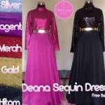 Baju Pesta Deana Sequin Dress by Nitha Rahadi, Gaun Pesta Sequin, Gaun Pesta Premium, Gaun Pesta Couple, Gaun Pesta Seragam Keluarga, Gaun Pesta Aksen Abstrak, Gaun Pesta Made by Order, Gaun Lamaran Muslimah