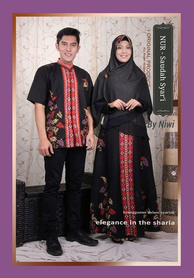 Saudah batik syar i galeri ayesha jual baju pesta Baju couple gamis dan koko