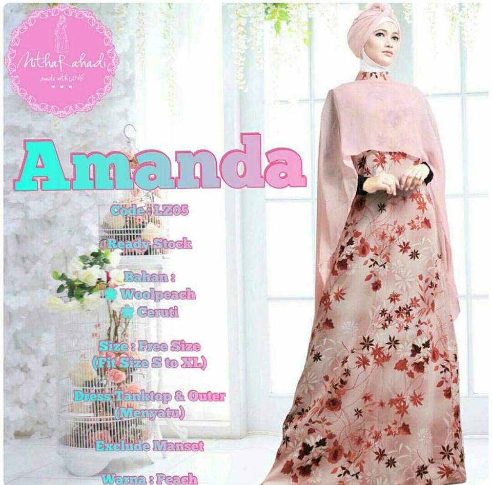 Dress Pesta Amanda By Nitha Rahadi Baju Lebaran Bahan