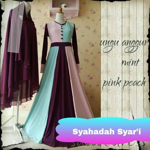 Gamis Pesta Modern Syahadah Syar I Ready Stock Dan Made