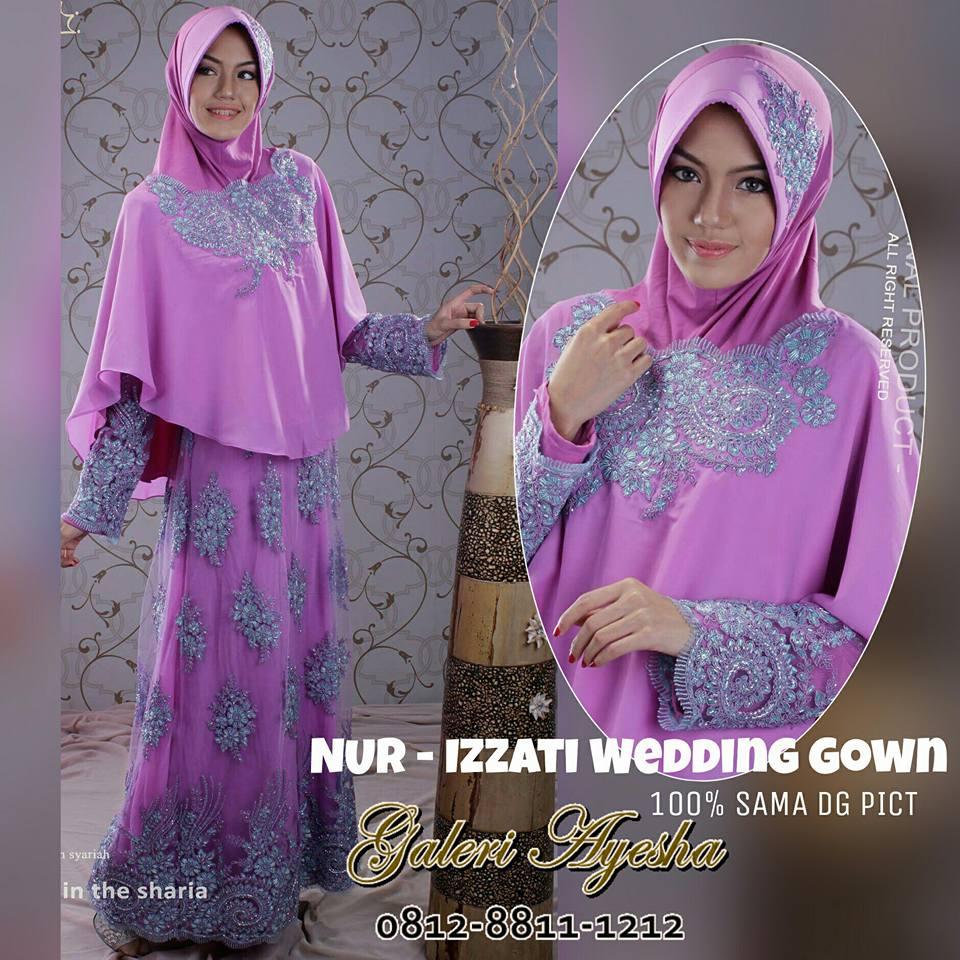 Gaun Pengantin Syar i Izzati Wedding Gown made by order