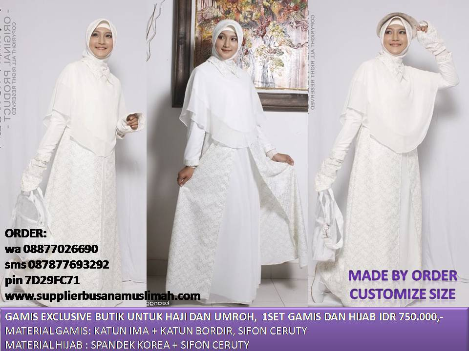 Gamis Haji Galeri Ayesha Jual Baju Pesta Modern Syar 39 I