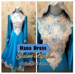 Gamis Lebaran Seragam Keluarga dan Gamis Pesta Hana Dress by Alvaro 46 GA