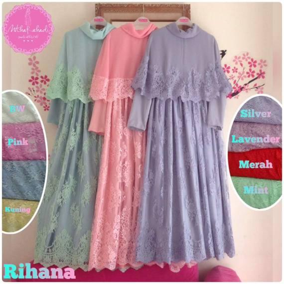 Rihana Dress Galeri Ayesha Jual Baju Pesta Modern Syar
