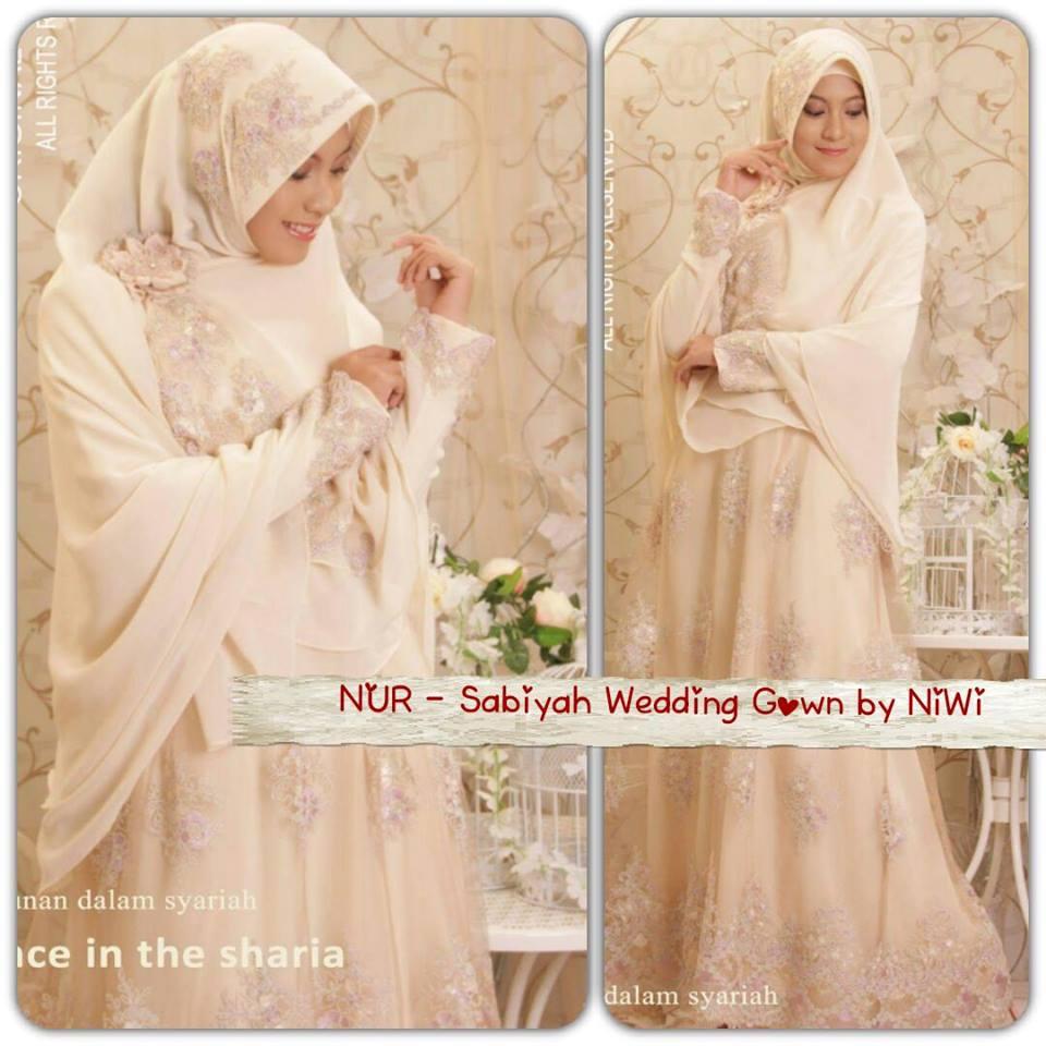 Gaun Pengantin Syari Sabiyah Gown By Nines Widosari Baju Lamaran cb02fa3157