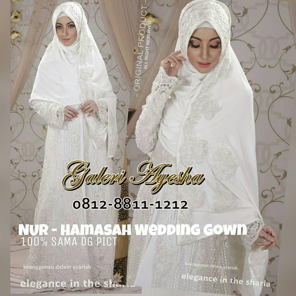 Kebaya Nikah Muslimah Modern Hamasah Wedding Gown By Nines Widosari