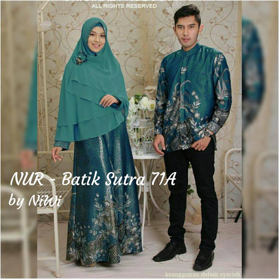 Gamis Pesta Syar I Couple Batik Sutra Baju Pesta Batik