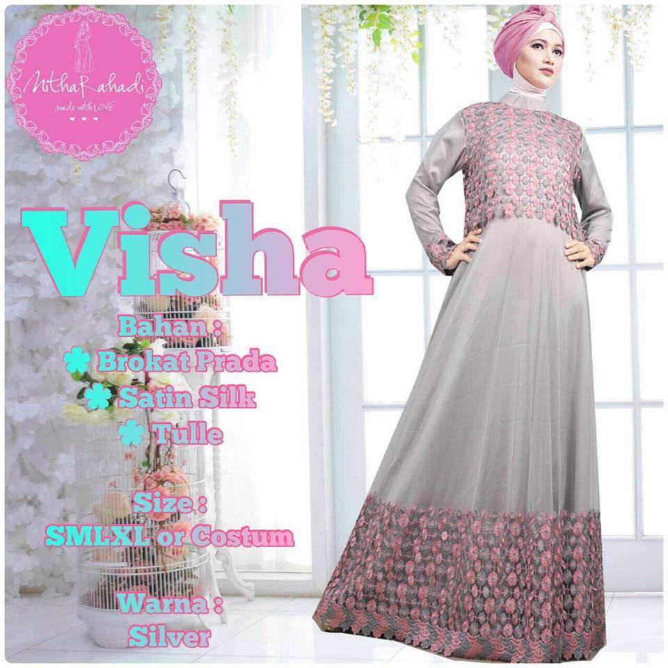 Gamis Pesta Visha Dress By Nitha Rahadi Baju Muslimah