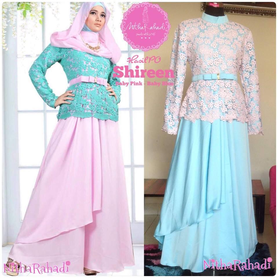 Model gaun pesta muslimah untuk orang gemuk Baju gamis pesta muslim