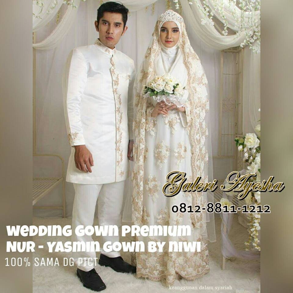 baju nikah muslimah modern yasmin wedding gown made by