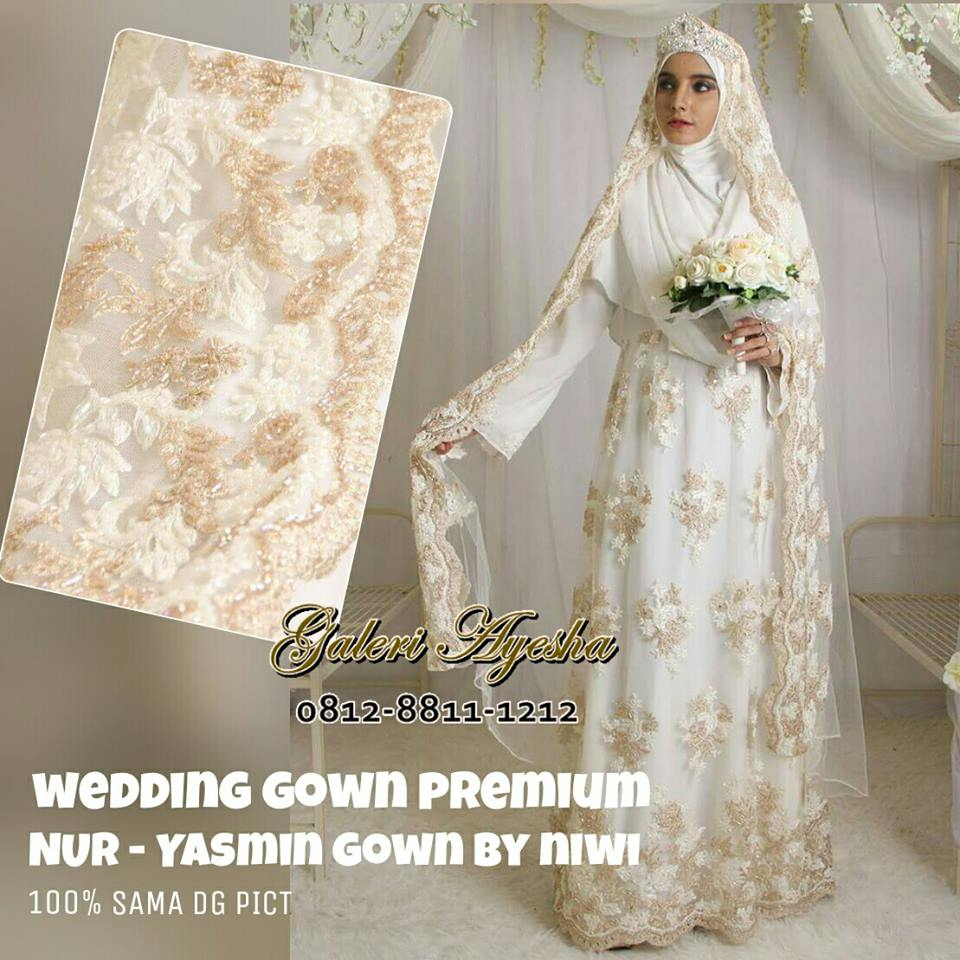 Baju Nikah Muslimah Modern Yasmin Wedding Gown Made By Order