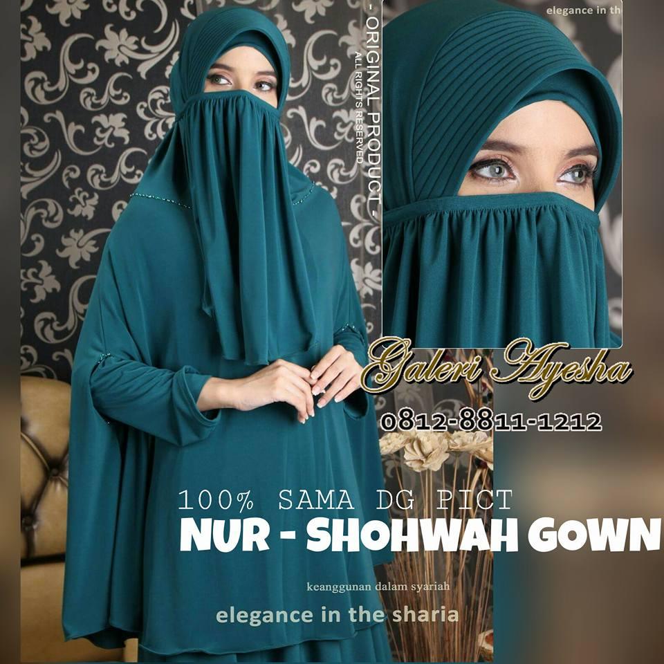 Gamis Niqob Salafi Sohwah Syari Dress Bisa Dicicil Untuk