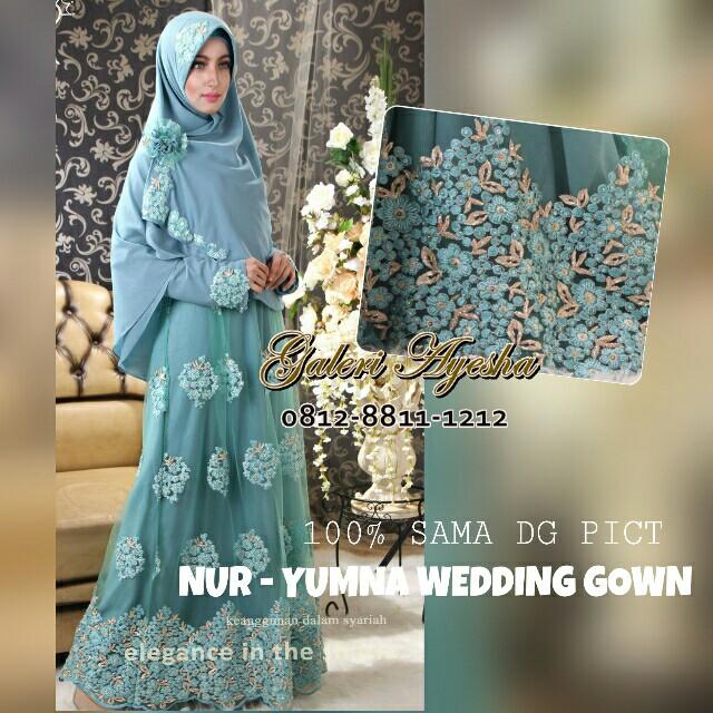 Baju Pengantin Muslimah Yumna Wedding Gown made by order