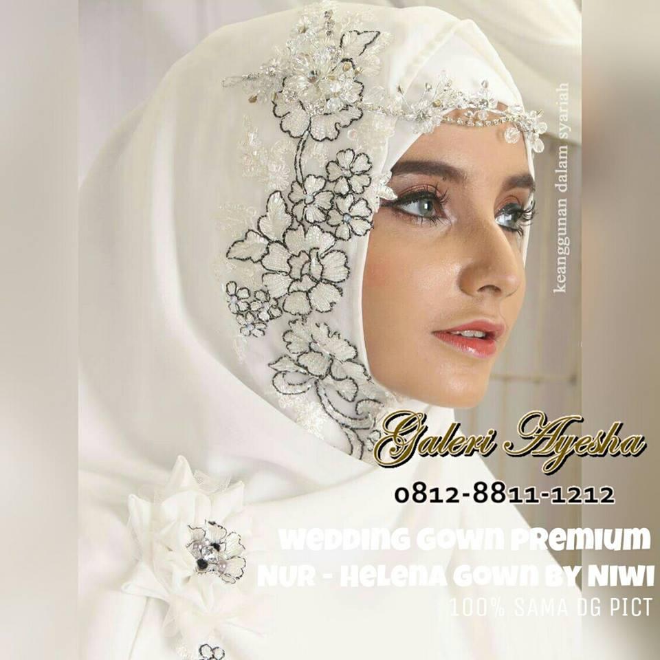 Mukena Premium Galeri Ayesha Jual Baju Pesta Modern Syari Dan Helena Pernikahan Muslimah Wedding Gown Made By Order